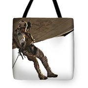 A Soldier Rappels From An Mh-60s Tote Bag