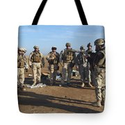 A Soldier Teaches How To Properly Tote Bag by Stocktrek Images