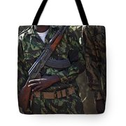 A Soldier With The Armed Forces Tote Bag