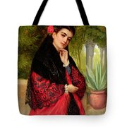 A Spanish Beauty Tote Bag by John-Bagnold Burgess