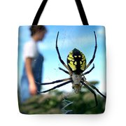 A Spider Beside Her Tote Bag