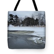 A Stream In Ice Tote Bag