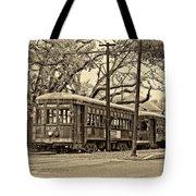 A Streetcar Named St. Charles Sepia Tote Bag