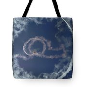 A Stunt Plane Flies Tote Bag by Stocktrek Images