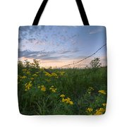 A Summer Evening Sky With Yellow Tansy Tote Bag