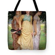 A Summer Shower Tote Bag by Charles Edward Perugini