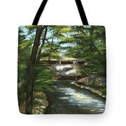 A Summer Walk Along The Creek  Tote Bag