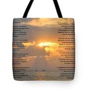 A Sunset A Poem - Victor Hugo Tote Bag