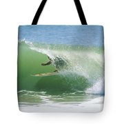 A Surfer Shoots The Curl Tote Bag