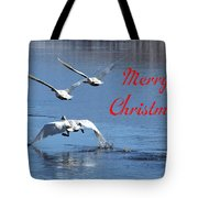 A Swan Christmas Tote Bag