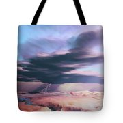 A Swift Moving Thunderstorm Moves Tote Bag