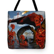 A Team Of Androids Break Down Objects Tote Bag by Mark Stevenson