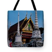 A Temple In A Wat Monestry In Tahiland Tote Bag