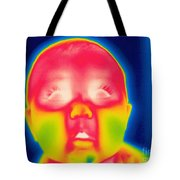 A Thermogram Of A 5 Month Old Baby Tote Bag