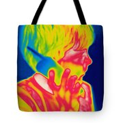 A Thermogram Of A Boy Talking Tote Bag