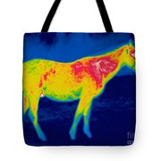 A Thermogram Of A Horse Tote Bag