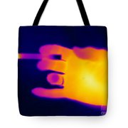 A Thermogram Of A Lit Cigarette Tote Bag by Ted Kinsman