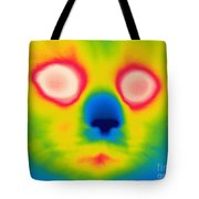 A Thermogram Of A Long Haired Cat Tote Bag