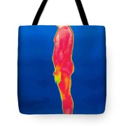 A Thermogram Of A Nude Man Profile Tote Bag