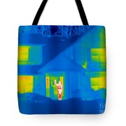 A Thermogram Of A Person Waving In House Tote Bag