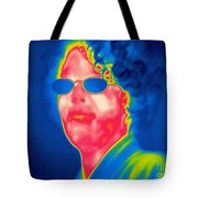 A Thermogram Of A Woman With Glasses Tote Bag