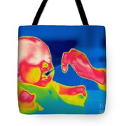 A Thermogram Of Feeding A Baby Tote Bag