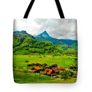 A Town On The Way Tote Bag
