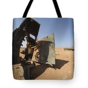 A Tracked Artillery Vehicle Destroyed Tote Bag