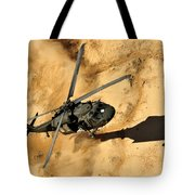 A Uh-60 Black Hawk Helicopter Comes Tote Bag
