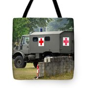 A Unimog In An Ambulance Version In Use Tote Bag