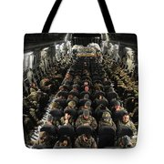 A Unit Of U.s. Army Soldiers In A C-17 Tote Bag