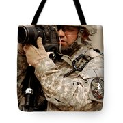 A U.s. Air Force Combat Cameraman Tote Bag by Stocktrek Images