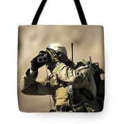 A U.s. Air Force Combat Controller Uses Tote Bag by Stocktrek Images