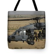 A U.s. Air Force Hh-60 Pavehawk Flies Tote Bag