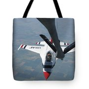 A U.s. Air Force Thunderbird Pilot Tote Bag by Stocktrek Images
