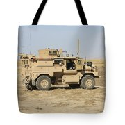 A U.s. Army Cougar Mrap Vehicle Tote Bag