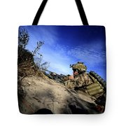A U.s. Army Soldier Provides Supporting Tote Bag