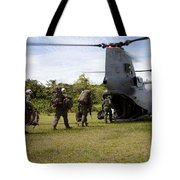 A U.s. Marine Corps Ch-46e Sea Knight Tote Bag