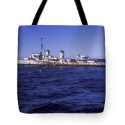 A U.s. Navy Deactivated Ship Sits Ready Tote Bag