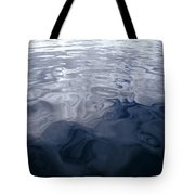 A Very Calm Ocean Reflects Grey-blue Tote Bag