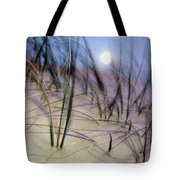 A View Of A Full Moon Rising Tote Bag