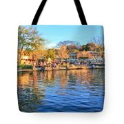 A View Of Disneyland From Tom Sawyer Island  Tote Bag