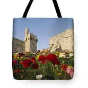 A View Of Flowers Growing Tote Bag