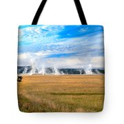 A View Of Geysers  Tote Bag
