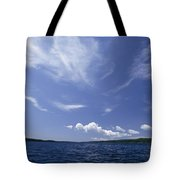 A View Of Lake Superior And Sky At Isle Tote Bag