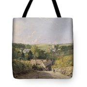 A View Of Osmington Village With The Church And Vicarage Tote Bag