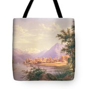A View Of Scherzingen On The Lake Of Thun Tote Bag