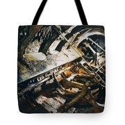 A View Of The Corroded Interior Tote Bag