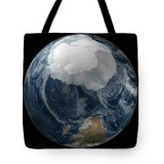 A View Of The Earth With The Full Tote Bag