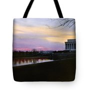A View Of The Lincoln Memorial Tote Bag
